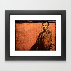 Abraham Lincoln And The … Framed Art Print