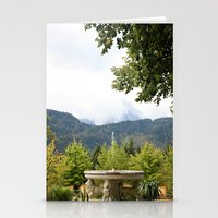 Fountain In The Mountain… Stationery Cards