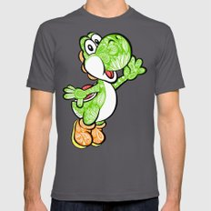 Yoshi in the sky !  Mens Fitted Tee Asphalt SMALL