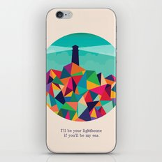 I'll be your lighthouse if you'll be my sea iPhone & iPod Skin