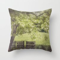 Hanging Out In The Shade Throw Pillow