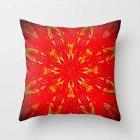 Fire Mandala Throw Pillow