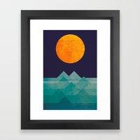 The Ocean, The Sea, The … Framed Art Print