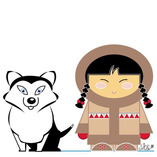 Little Inuit Art Print