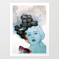 Volcan-oh-no! Art Print