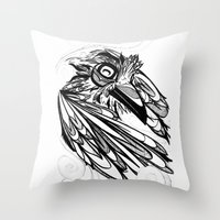 Raven's Escape Throw Pillow