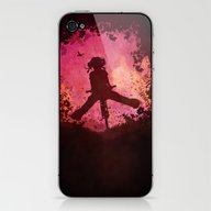 Chasing The Wind (pink) iPhone & iPod Skin