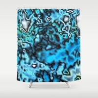 Strange Topography - Aqu… Shower Curtain