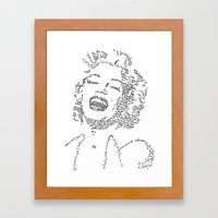Marilyn Monroe WordsPort… Framed Art Print