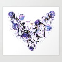 Watercolor Necklace Art Print