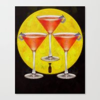 Atomic Martini Sunrise Canvas Print