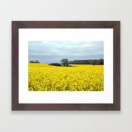 Framed Art Print featuring  Landscape In Yellow by Lo Coco Agostino