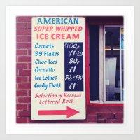 American Super whipped Art Print