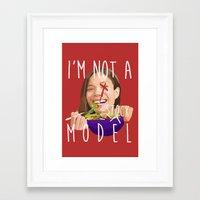 I'm Not A (stock) Model Framed Art Print