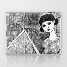 Girl on the top of her house. Laptop & iPad Skin