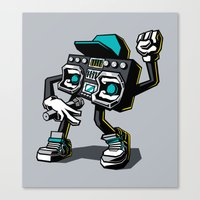 Beatbox Boombox Canvas Print