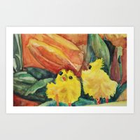 Great Chicks Art Print