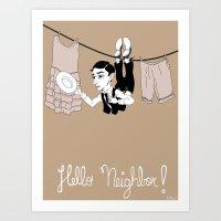 Buster Keaton Hello Neig… Art Print