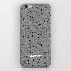 Retro Speckle Print - Grey iPhone & iPod Skin