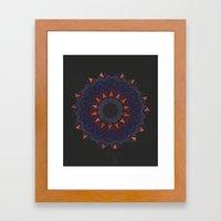 Halloween Skull Mandala Framed Art Print