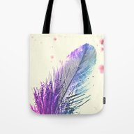 Tote Bag featuring Feather  by Monika Strigel
