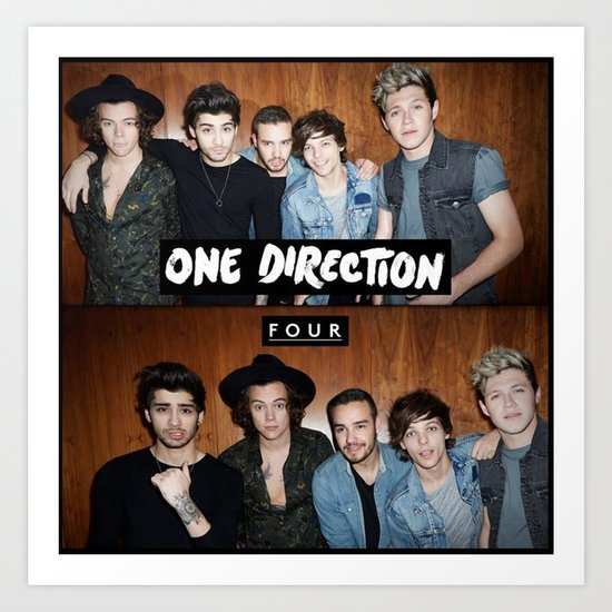 "One direction ""four"" album cover Art Print by Kikabarros ..."
