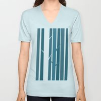 Blue Wood Unisex V-Neck