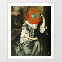 Masked Woman Art Print