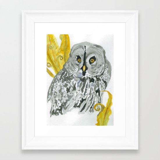 Twilight Guardian Harry Potter Owl Framed Art Print