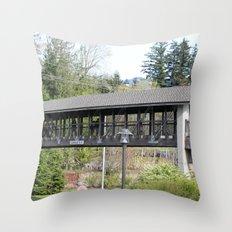 Bridge at the Falls Throw Pillow