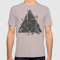 PLACE Triangle V2 Mens Fitted Tee Cinder SMALL