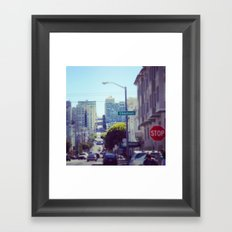 A Vertical Sweep Straight To The Sky Framed Art Print
