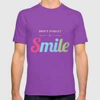 Don't Forget To Smile Mens Fitted Tee Ultraviolet SMALL