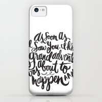 iPhone 5c Cases featuring grand adventure by Matthew Taylor Wilson