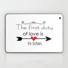 Love is to listen Laptop & iPad Skin