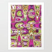 Funky Love Art Print