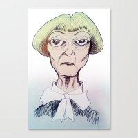 Betty D eyes Canvas Print