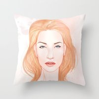 Pink Alice II Throw Pillow