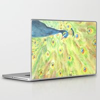 peacock Laptop & iPad Skins featuring Peacock by Annie Mason