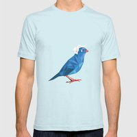 Birdie Sanders Mens Fitted Tee Light Blue SMALL