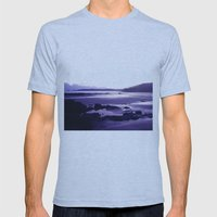 Blue Beach Bay Mens Fitted Tee Athletic Blue SMALL