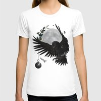 solar owls moon  Womens Fitted Tee White SMALL