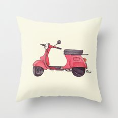 Vespa - ballpoint pen Throw Pillow