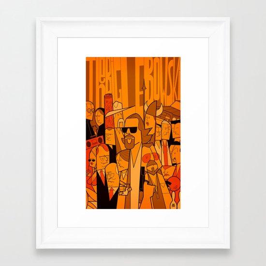 The Big Lebowski (variant aspect ratio) Framed Art Print