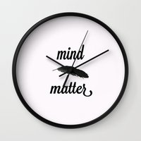 Mind > Matter (white) Wall Clock