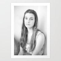 Lily B+W Art Print