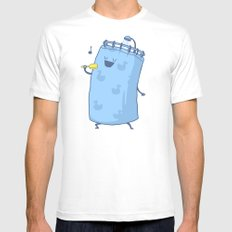 Singing In The Shower? SMALL White Mens Fitted Tee