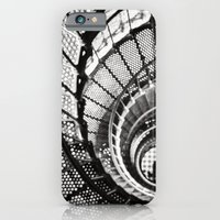 Spiral staircase black and white iPhone 6 Slim Case