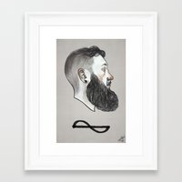 Framed Art Print featuring Frequency by boy Roland