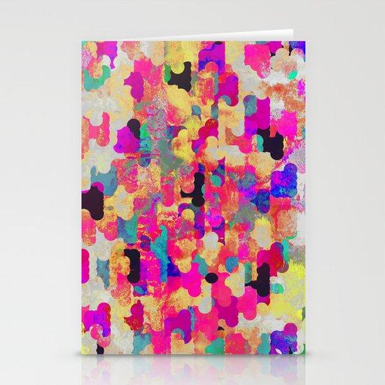 Neon Tambourine Stationery Card